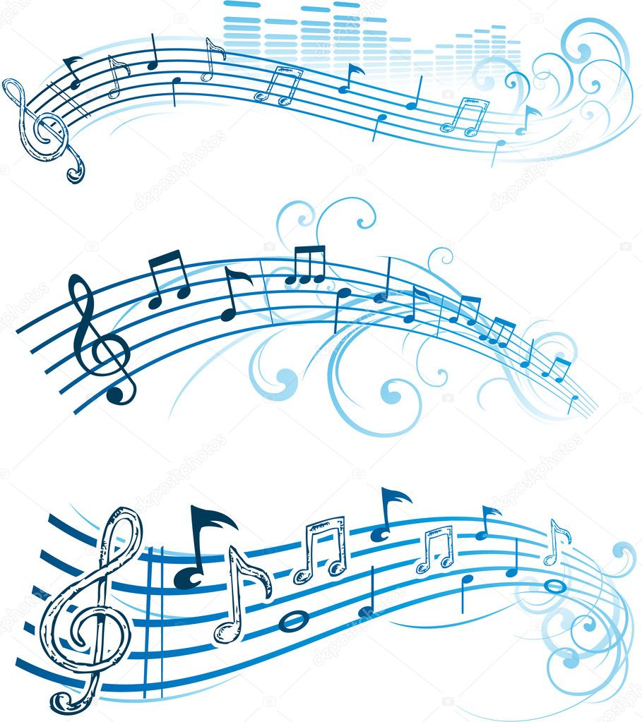 Abstract music note design stock illustration