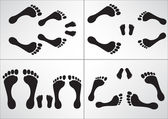 242 Foot family — Stock Vector