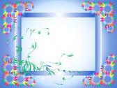 Vektor kort med en blomma-illustration — Stockvektor