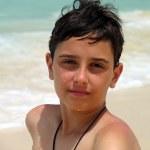 Boy on the caribbean beach. — Stock Photo #6092281