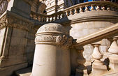 Street view of staircase of the Capitol Building. — Stock Photo
