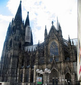 A street view of Cologne Cathedral. — Stock Photo