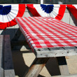 Outside table at Lobster Shack. — Stock Photo