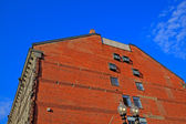 Red brick building wall. — Stock Photo