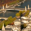 Paris and River Seine from the Eiffel Tower. — Stock Photo