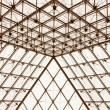 Stock Photo: Glass Pyramide Du Louvre in Paris, France.