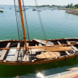 Ancient nautical sailing boat at the Historic Plymouth Harbor. — Stock Photo
