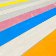 Multicolored painted sidewalk. — Stock Photo #6518842