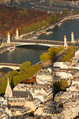 Paris and River Seine from the Eiffel Tower. — Stockfoto