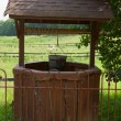 Stock Photo: Wishing well on farm.
