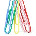 Multicolor paper clips — Stock Photo #6062382