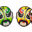 colorful chinese opera face masks — Stock Photo