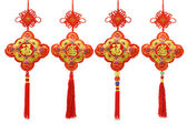 Collection of Chinese New Year traditional ornaments — Stock Photo