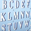 Backlit plastic alphabet stencil — Stock Photo #6135364