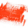 Red color paint brush strokes — Stock Photo