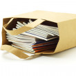 Books in paper bag — Stock Photo