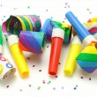 Multicolor party blowers — Stock Photo