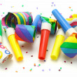 Stock Photo: Multicolor party blowers