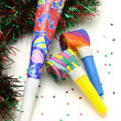 Stock Photo: Colorful Party horn and blowers