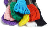 Colorful embroidery threads — Stock Photo