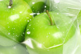 Fresh green apples — Stock Photo