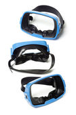 Three blue swimming goggles — Foto Stock