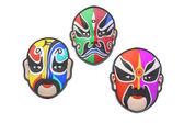 Colorful Chinese opera masks — Stock Photo