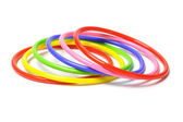 Colorful plastic bangles — Stock Photo