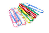 Multicolor paper clips — Stock Photo