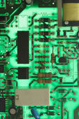 Back lit electronic circuit board — Stock Photo