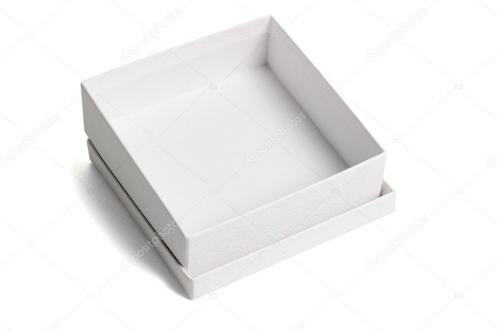 Open white gift box — Stock Photo © design56 #6135198