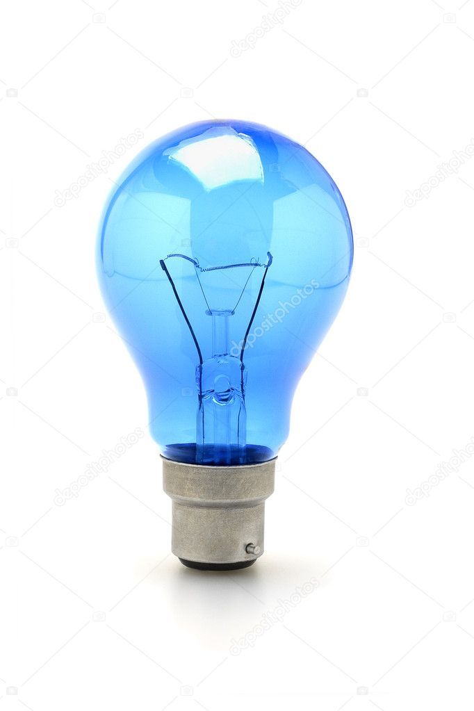 Blue Tungsten Light Bulb Stock Photo Design56 6138351