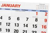 Página de calendario — Foto de Stock