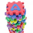 Alphabet puzzle blocks — Stock Photo
