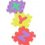 Colorful XYZ puzzle blocks — Stock Photo #6155462