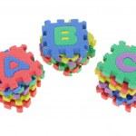Colorful puzzle blocks — Stock Photo