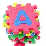 Alphabet puzzle blocks — Stock Photo
