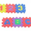Stock Photo: 123 and ABC