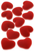 Red love hearts background — Stock Photo