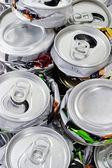 被击碎的罐回收再利用 — 图库照片