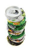 Stack of crushed cans — Stock Photo
