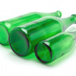 Three green bottles — Stock Photo