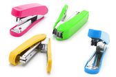 Colorful staplers — Stock Photo