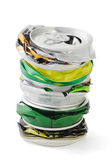 Crushed aluminum cans — Stock Photo