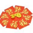 Chinese red packets and ornaments — Stock Photo #6495777