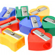 Multicolors pencil sharpeners — Stock Photo #6519854