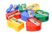 Multicolors pencil sharpeners — Stock Photo