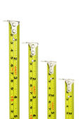 Measuring tapes with magnetic heads — Stock Photo