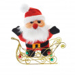 Santa Claus in sledge — Foto Stock