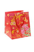 Chinese floral pattern gift bag — Stock Photo